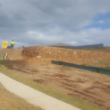 Big Retaining Wall