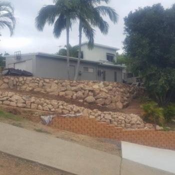 Drystack Retaining Wall, Big Rocks, Excavations