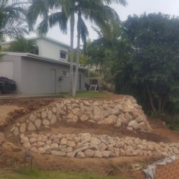 Drystack Retaining Wall, Excavations, Big Rocks