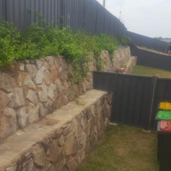 Large Retaining Wall, Granite