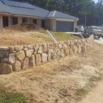 Retaining Walls, Sandstone + Storm Water Sump