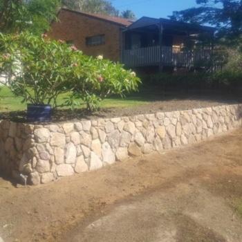 Sandstone Retaining Wall, Retaining Water, Emerald Beach